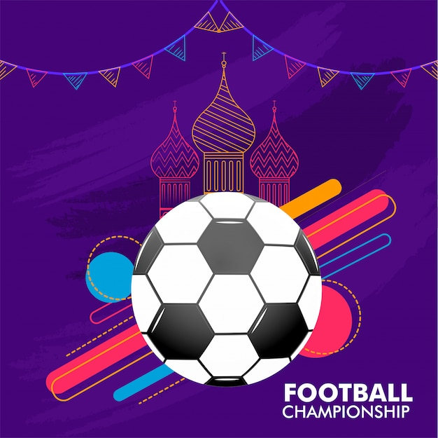 Bandera del campeonato de fútbol
