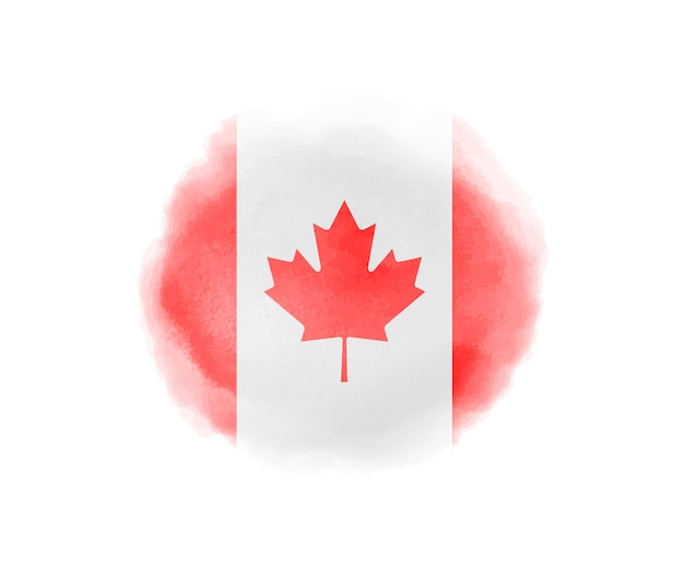 Bandera de canadá acuarela