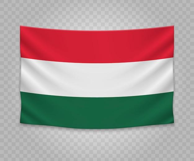 Bandera colgante realista de hungría