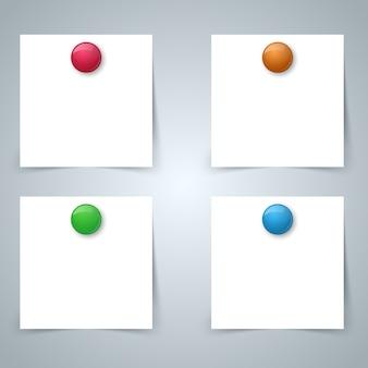 Bandera de color de papel