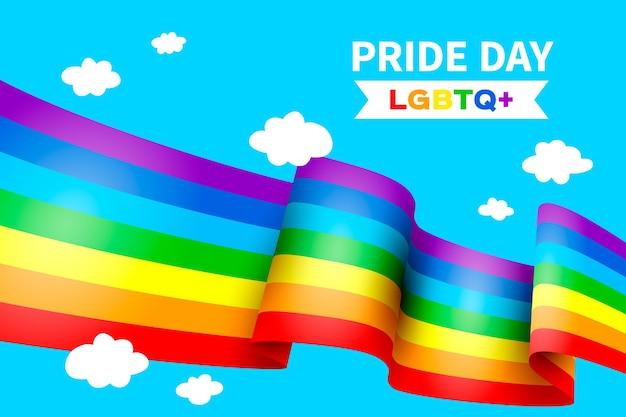 Bandera colorida del día del orgullo