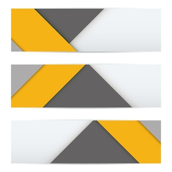 Bandera colorida de material moderno inusual