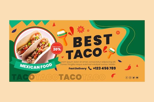 Bandera de comida mexicana