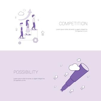 Bandera de la competencia empresarial y la posibilidad de desarrollo