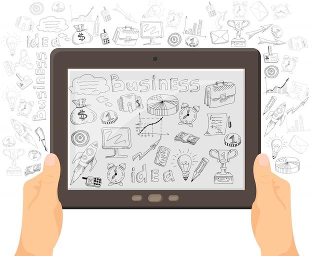 Bandera de concepto de tecnología móvil de negocios