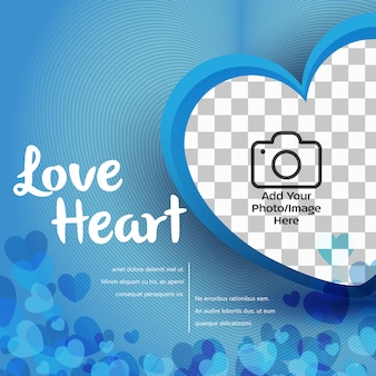 Bandera del corazón del amor