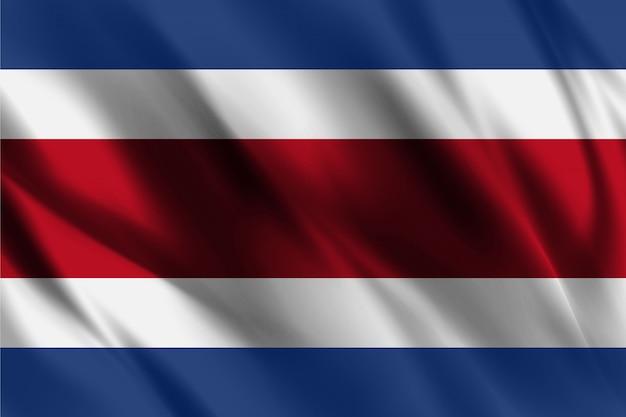 Bandera de costa rica que agita el fondo abstracto