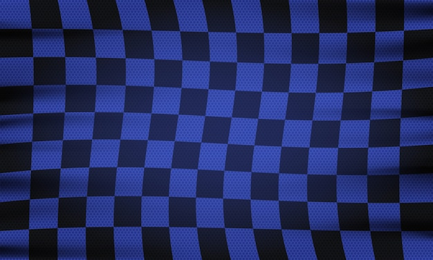 Bandera a cuadros para carreras de coches o club de rally
