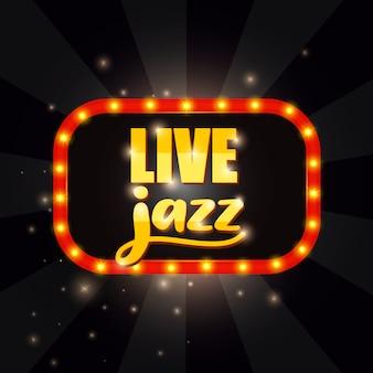 Bandera de jazz en vivo