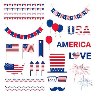 Bandera del día de la independencia de la bandera de estados unidos