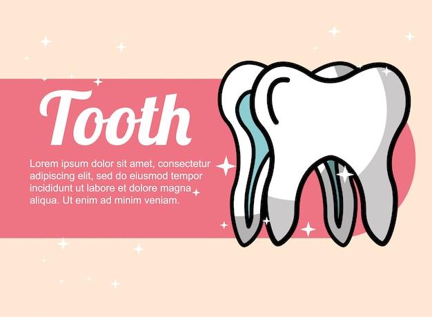 Bandera dental del cuidado dental