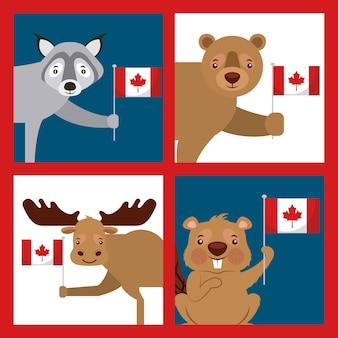 Bandera del día de canadá