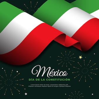 Bandera del día de la constitución mexicana