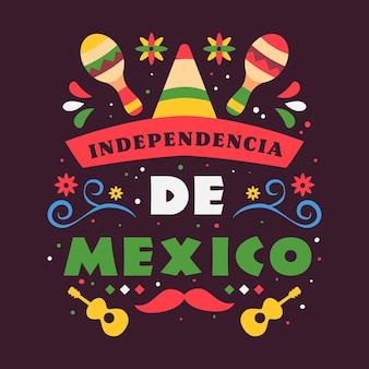 Bandera del día de la independencia de méxico
