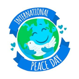 Bandera del día internacional de la paz