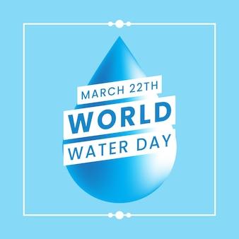 Bandera del día mundial del agua