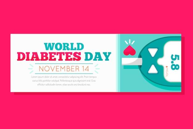Bandera del día mundial de la diabetes