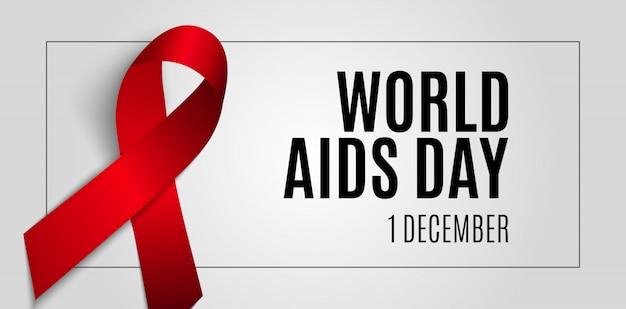 Bandera del día mundial del sida