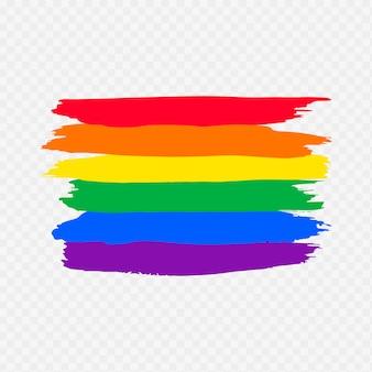 Bandera del día del orgullo en acuarela