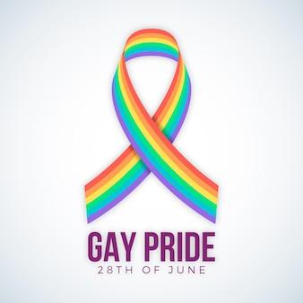 Bandera del día del orgullo con colores del arco iris