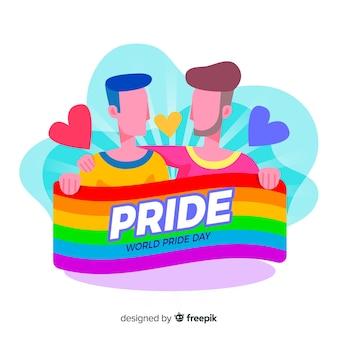 Bandera del día del orgullo lgbt
