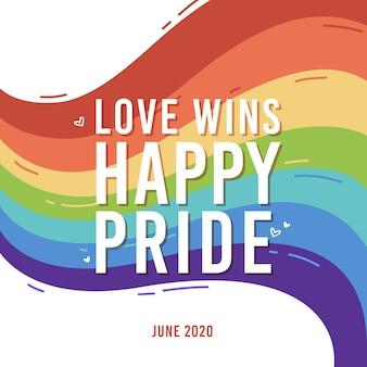 Bandera del día del orgullo