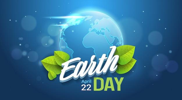 Bandera del día de la tierra