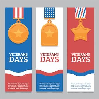 Bandera del día de los veteranos