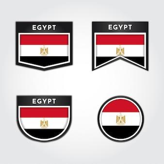 Bandera de egipto con etiquetas