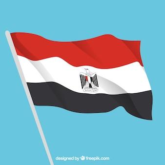 Bandera elegante de egipto con diseño plano