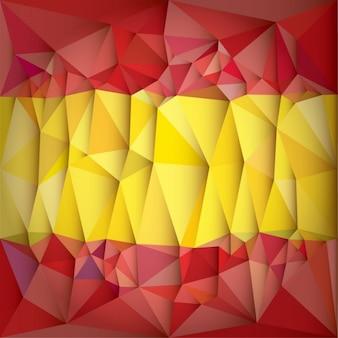 Bandera de españa hecha de polígonos