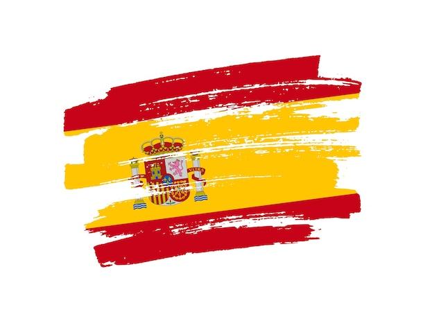 Bandera de españa de trazo de pincel