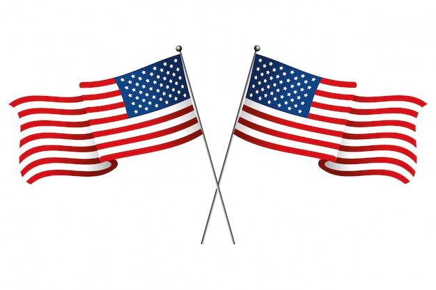 Bandera del estado unido