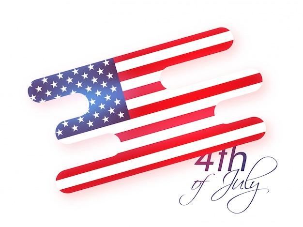 Bandera de estados unidos en resumen para el 4 de julio.