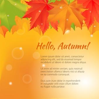 Bandera de felicitación de otoño.