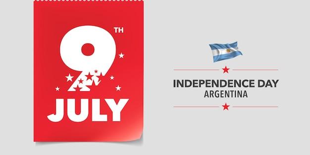 Bandera del feliz día de la independencia de argentina