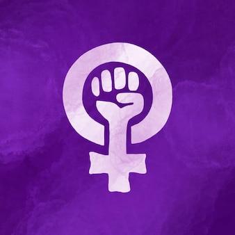 Bandera feminista acuarela