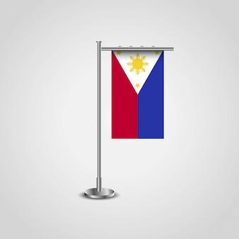 Bandera de filipinas con el vector de diseño creativo