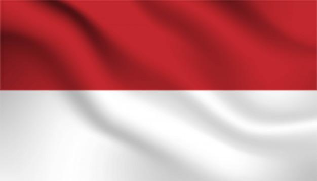 Bandera de fondo de indonesia.