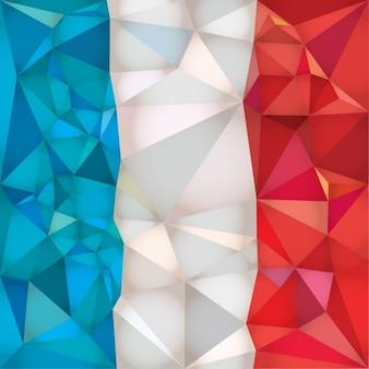Bandera de francia hecha de polígonos