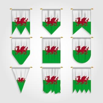 Bandera de gales en diferentes formas bandera de gales en varias formas