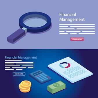 Bandera de gestión financiera