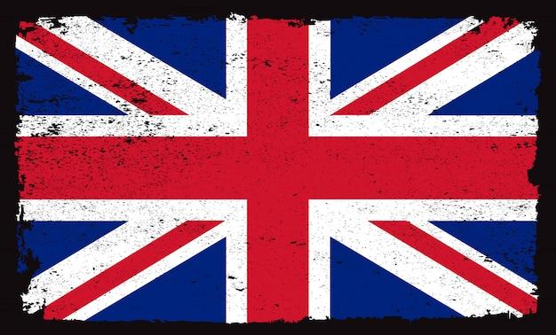 Bandera de grunge de reino unido