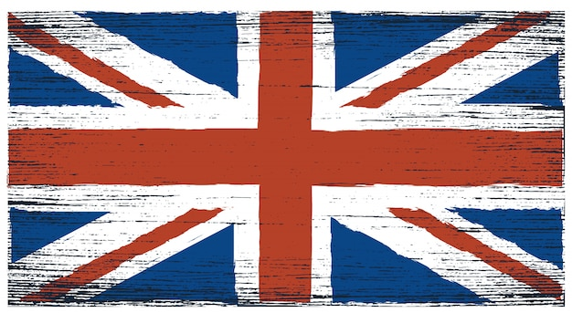 Bandera grunge del reino unido