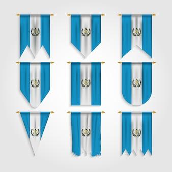 Bandera de guatemala en varias formas