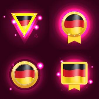 Bandera hecha en alemania.