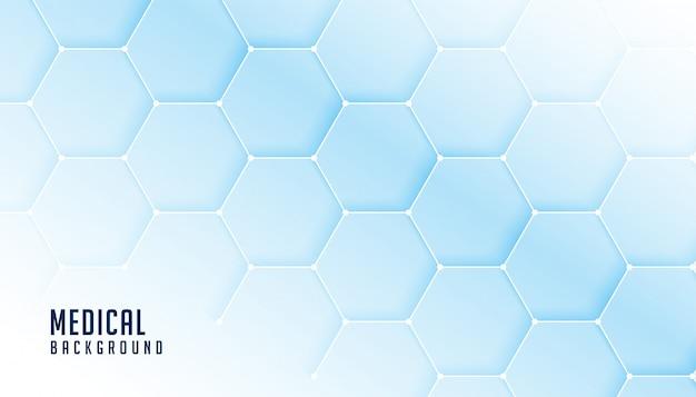 Bandera hexagonal de ciencia médica y salud
