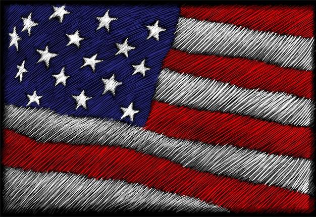 Bandera del hilo de eeuu