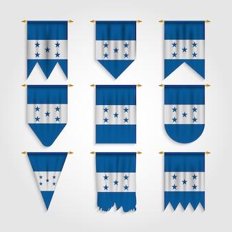 Bandera de honduras en varias formas