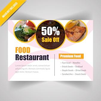 Bandera horizontal de la comida para el restaurante